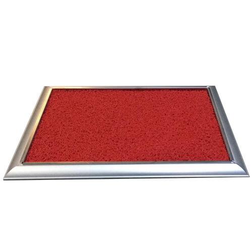 Metal Çerçeveli Dezenfekte Paspası Kırmızı