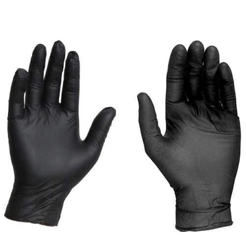 siyah lateks eldiven