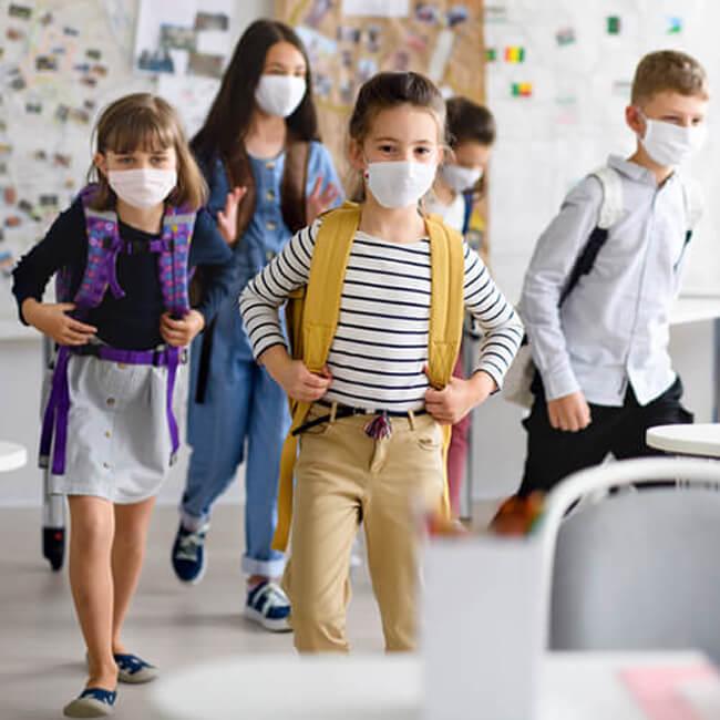 3 katlı çocuk maskesi