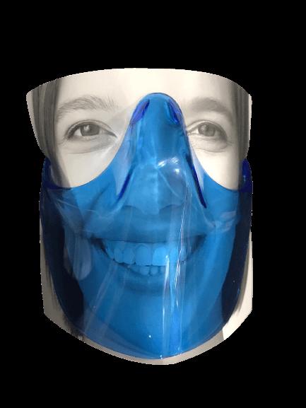 mavi ağız ve burun koruyucu siperlik
