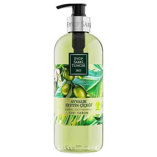 eyüp sabri tuncer doğal zeytinyağlı zetin çiçeği sıvı sabun