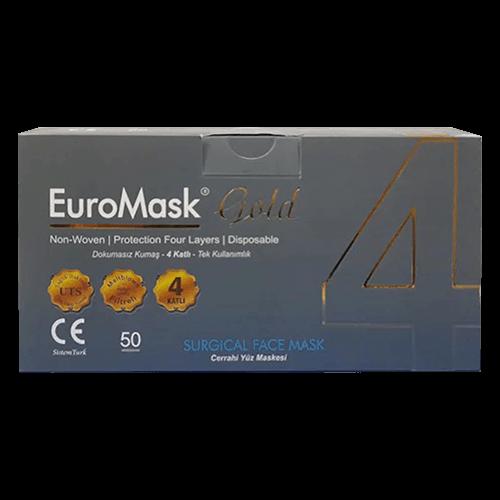 EuroMask Gold 4 katlı meltbown filitreli maske